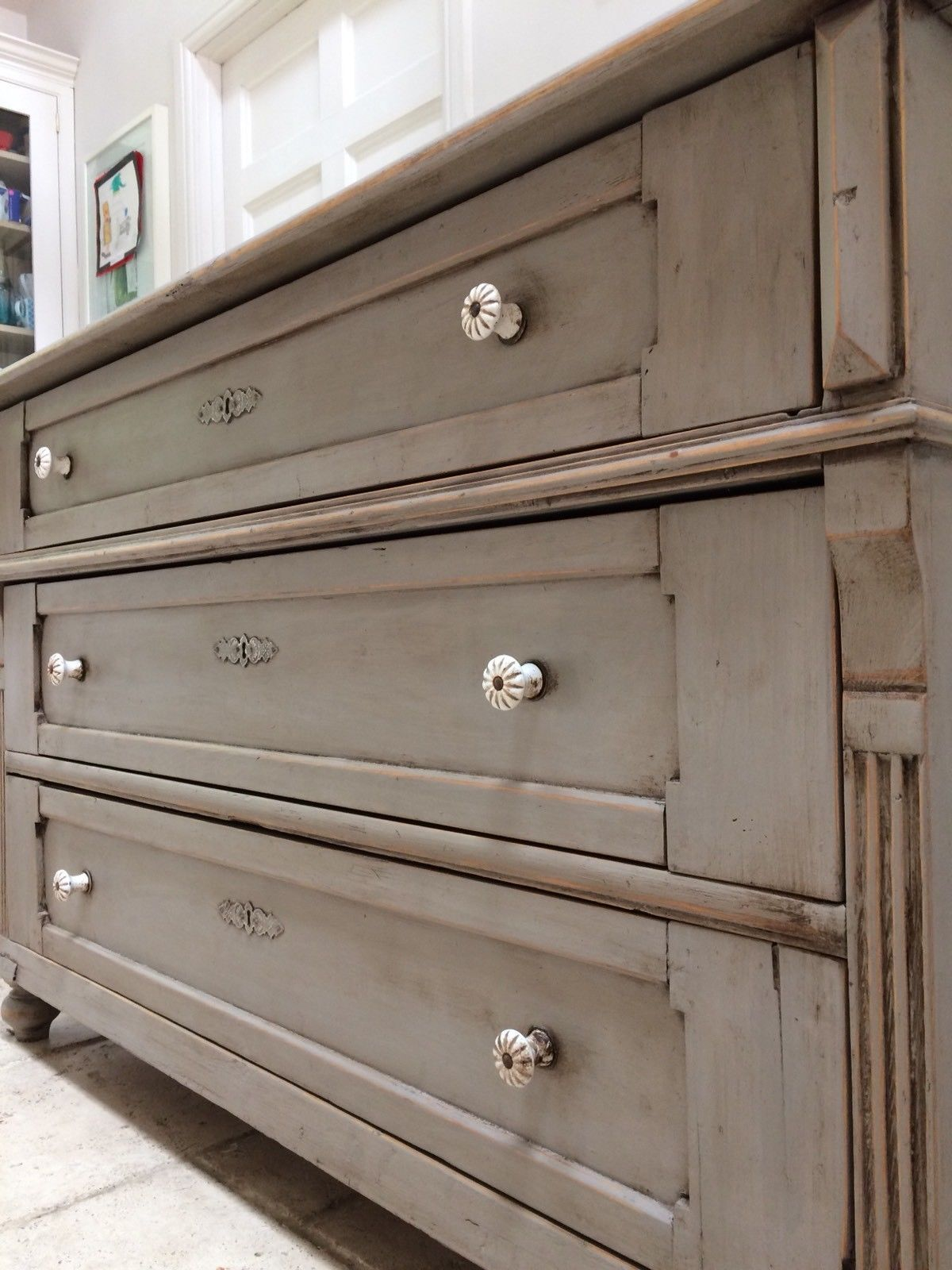 Victorian Pine Chest Of Drawers Antique Victorian Pine Painted Grey Sideboard Gustavian Style